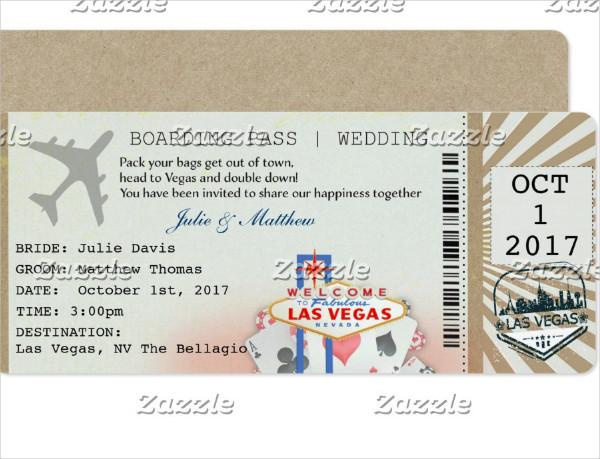 las vegas wedding boarding pass ticket1