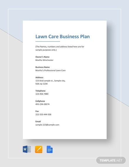 lawn care business plan example