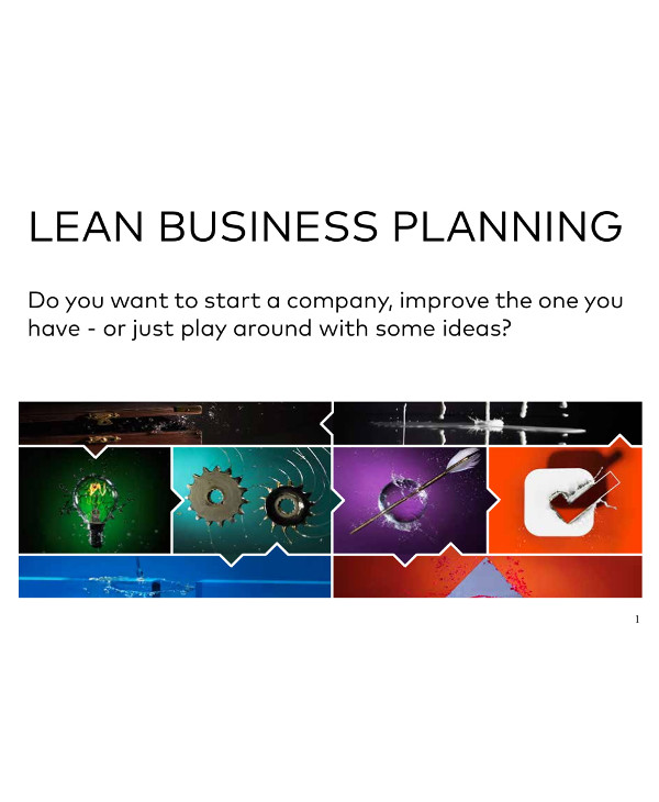 lean business planning format and instructions example