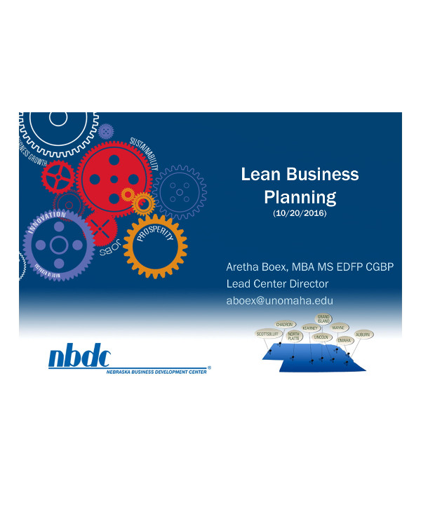 lean business planning guide example