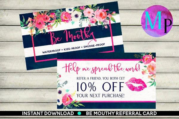 lip sense referral coupon example