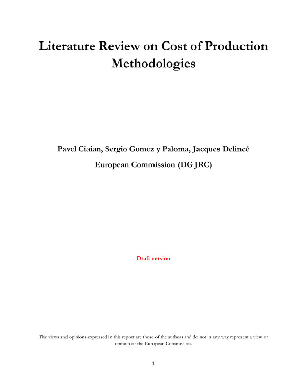 literature review on product cost analysis example1