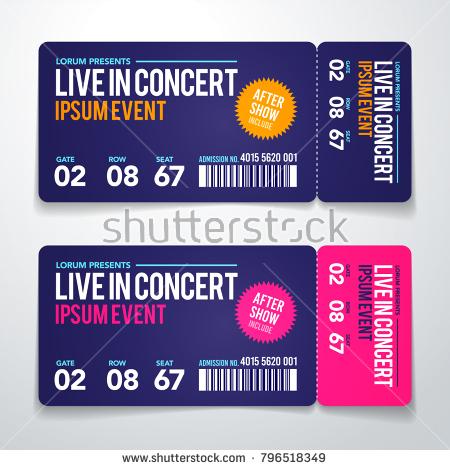 live concert ticket example