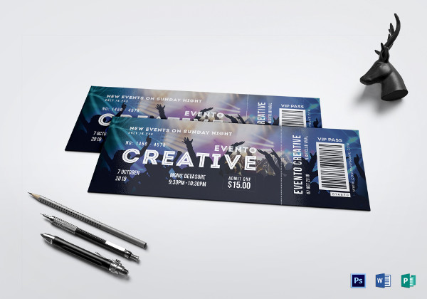 live event ticket template1