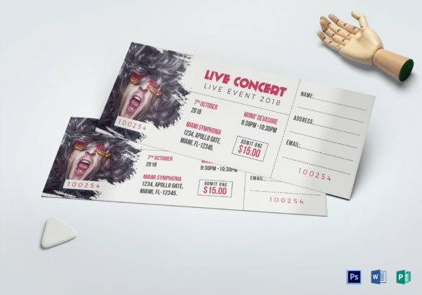 live music concert ticket example1