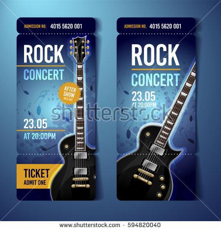 live rock concert ticket example