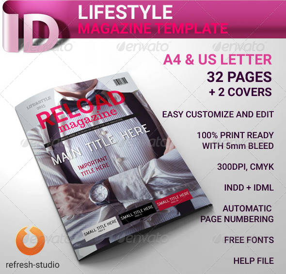 luxury lifestyle magazine template example