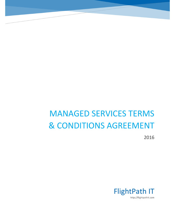 managed services terms and conditions agreement contract template example