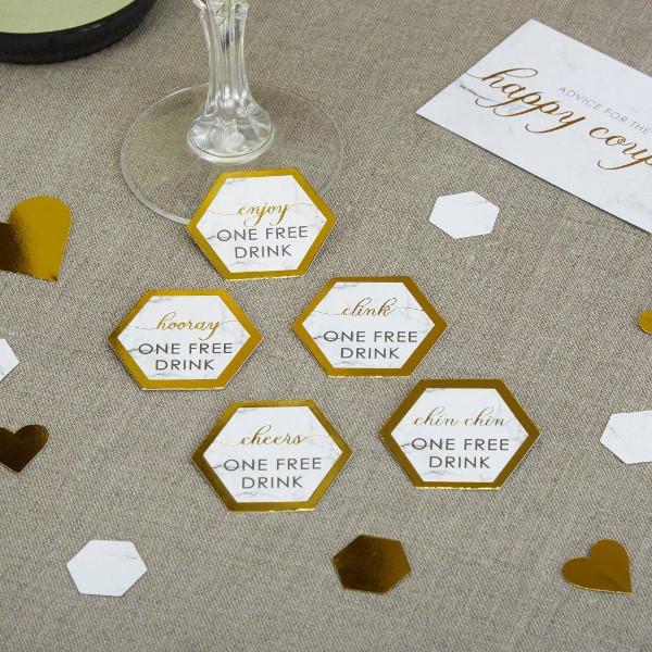 marble wedding drink voucher example