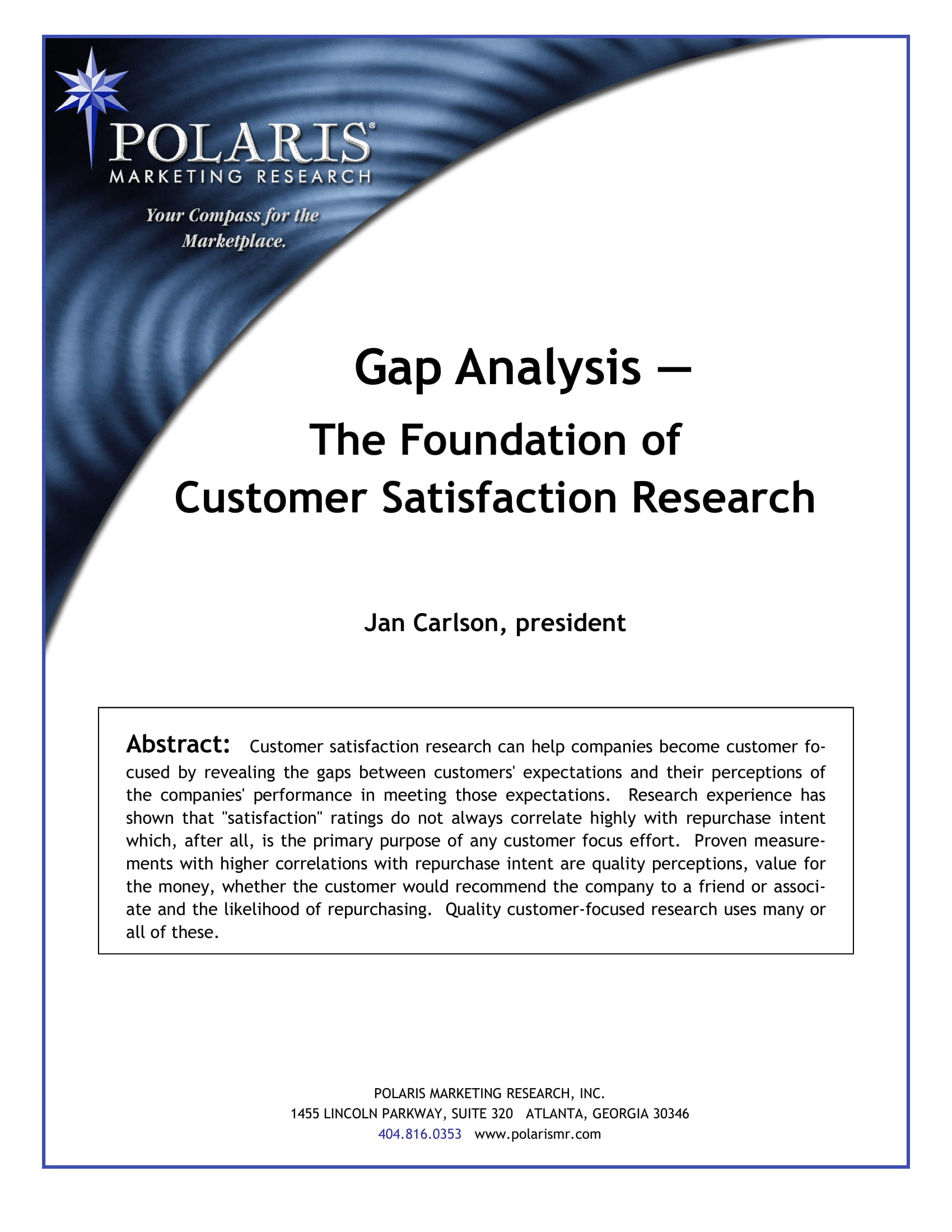 market gap analysis identification of factors for target market satisfaction example 1