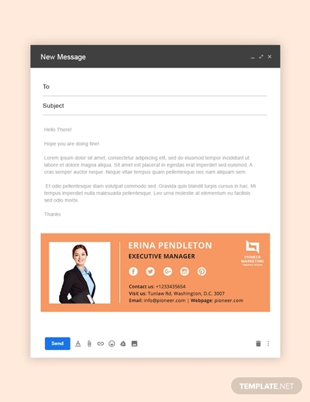 marketing agency email signature example