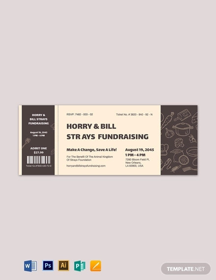 meal fundraiser ticket template1