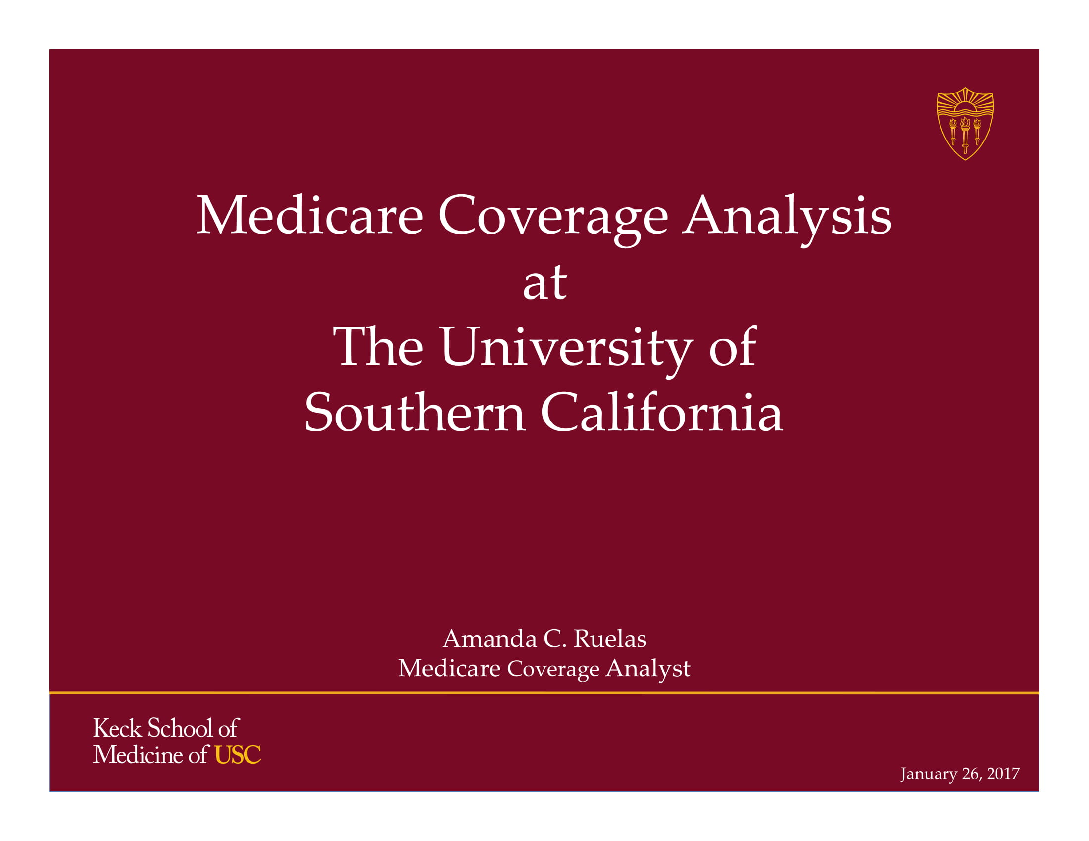 medicare coverage analysis cto presentation