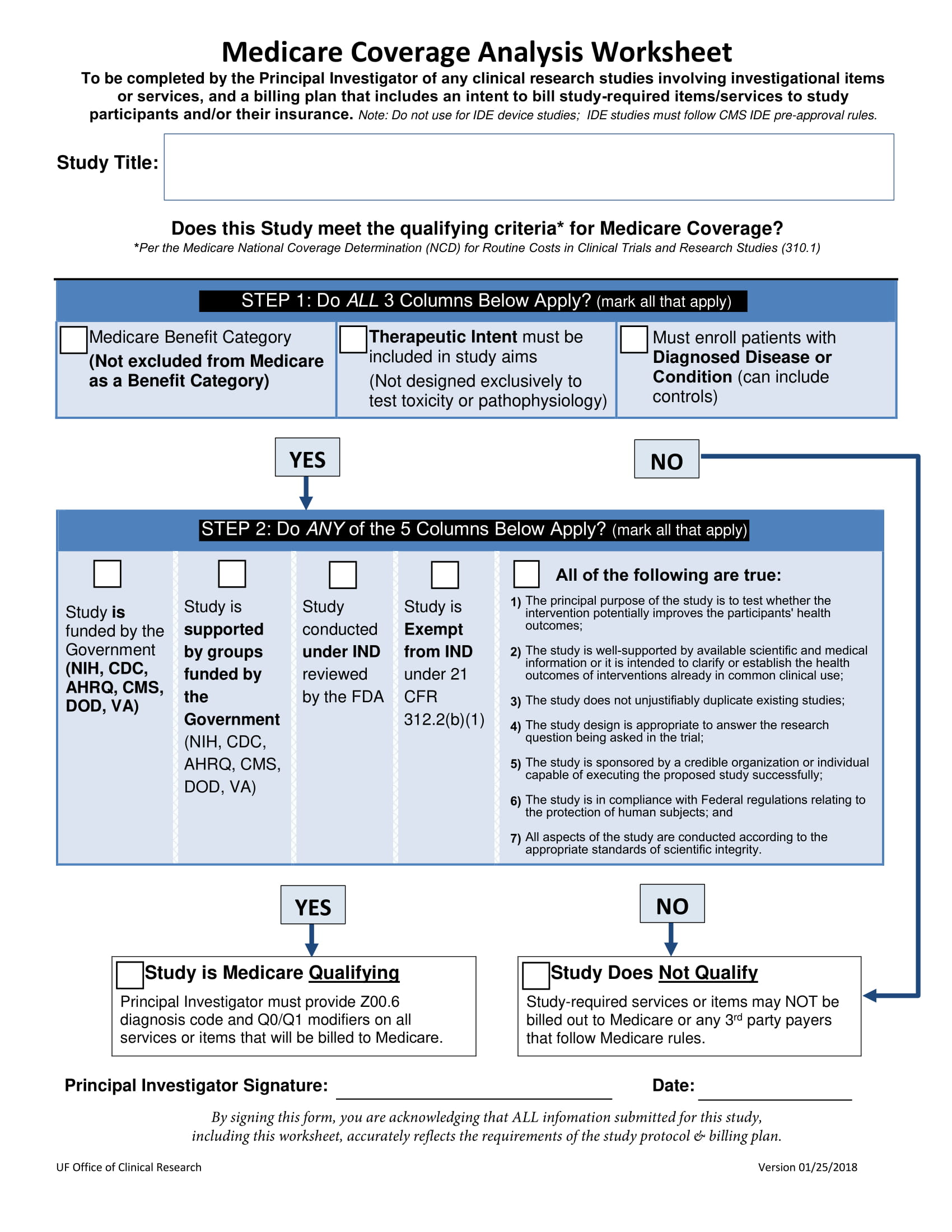 medicare coverage analysis worksheet