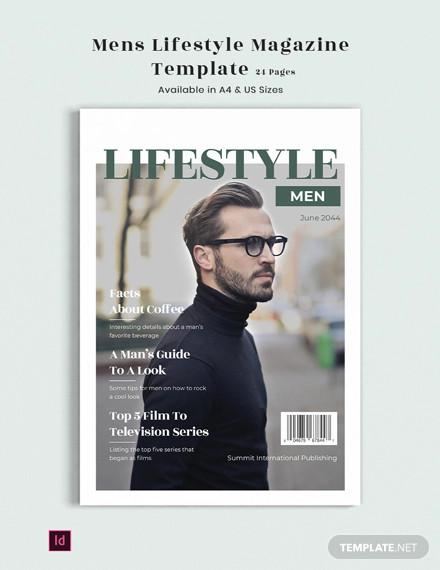 mens lifestyle magazine template
