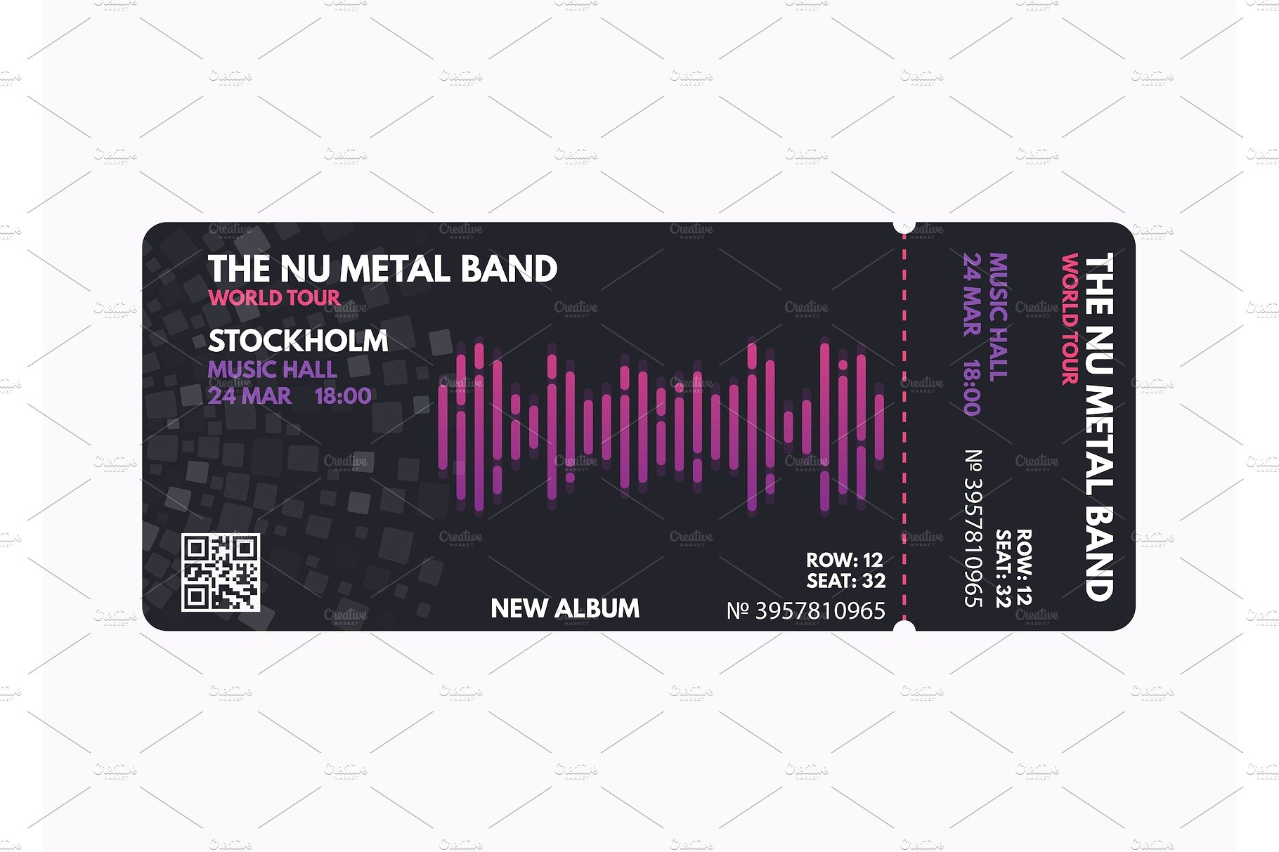 metal band event ticket example