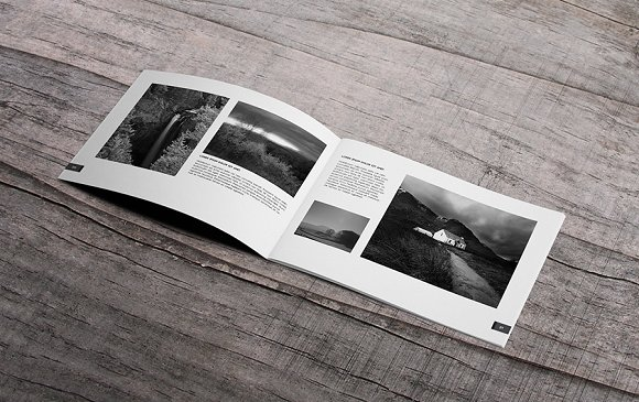 minimal photography catalog design