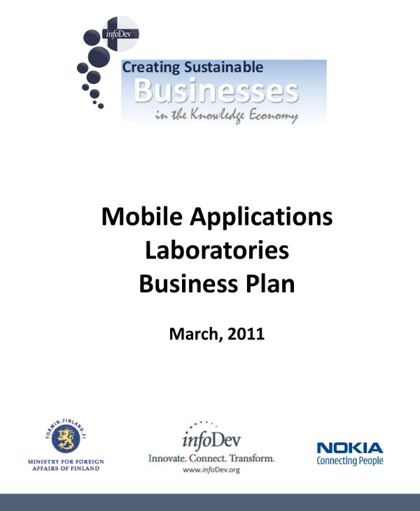 mobile tech startup business plan example1