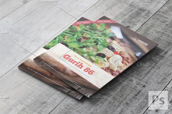 modern cookbook catalog template