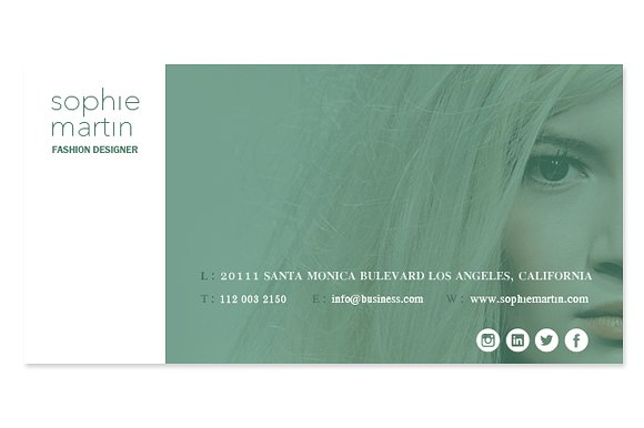 Modern Email Signature Design Example