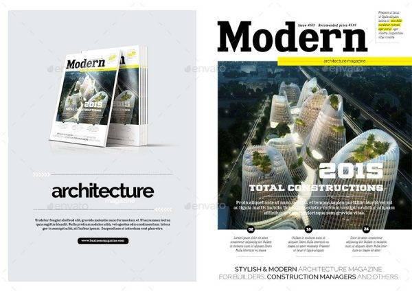 modern and professional architecture magazine example