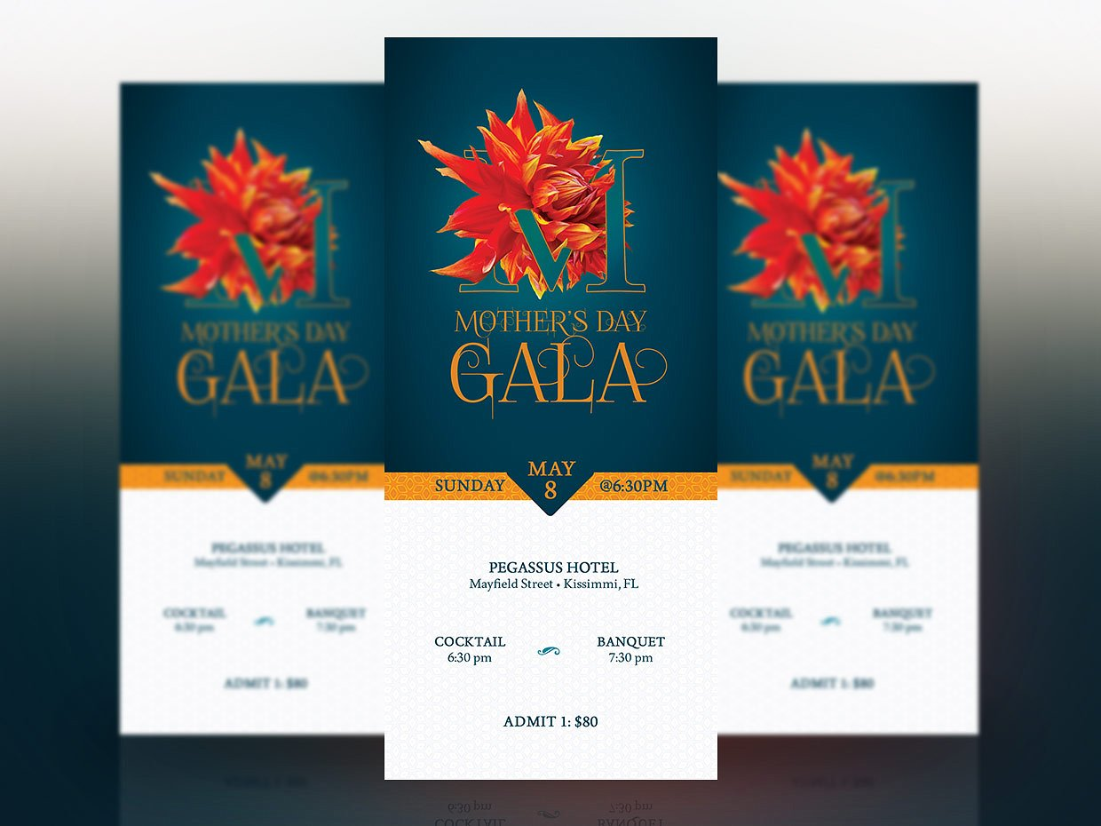 mothers day banquet event ticket example