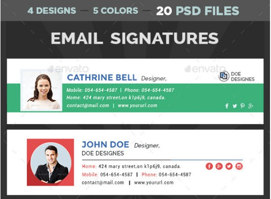 multi design electronic store email signature example