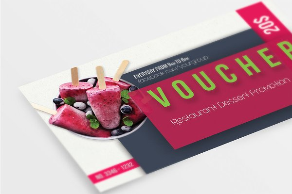 multipurpose restaurant voucher design example