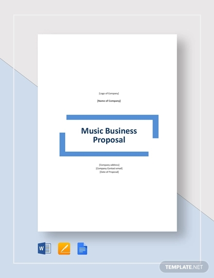 music business proposal