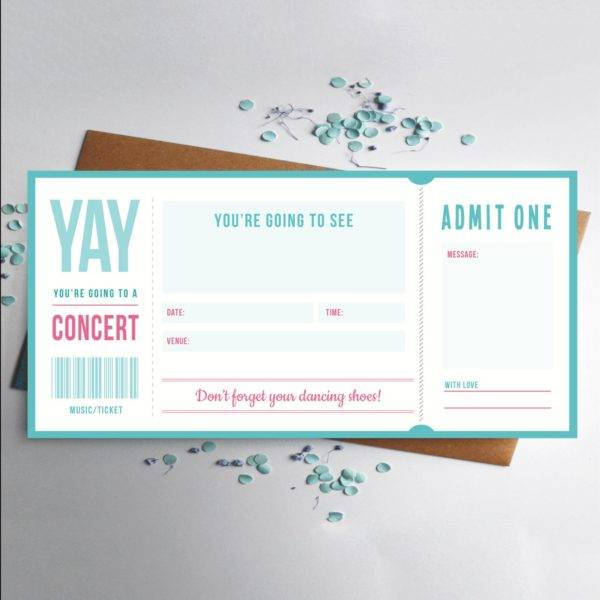 music concert ticket design example