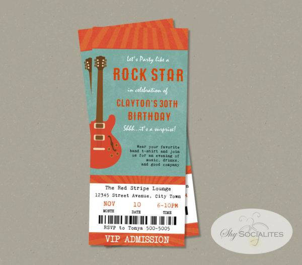 music festival concert ticket design example