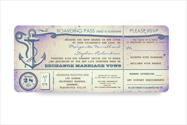 navy wedding boarding pass ticket invitation1