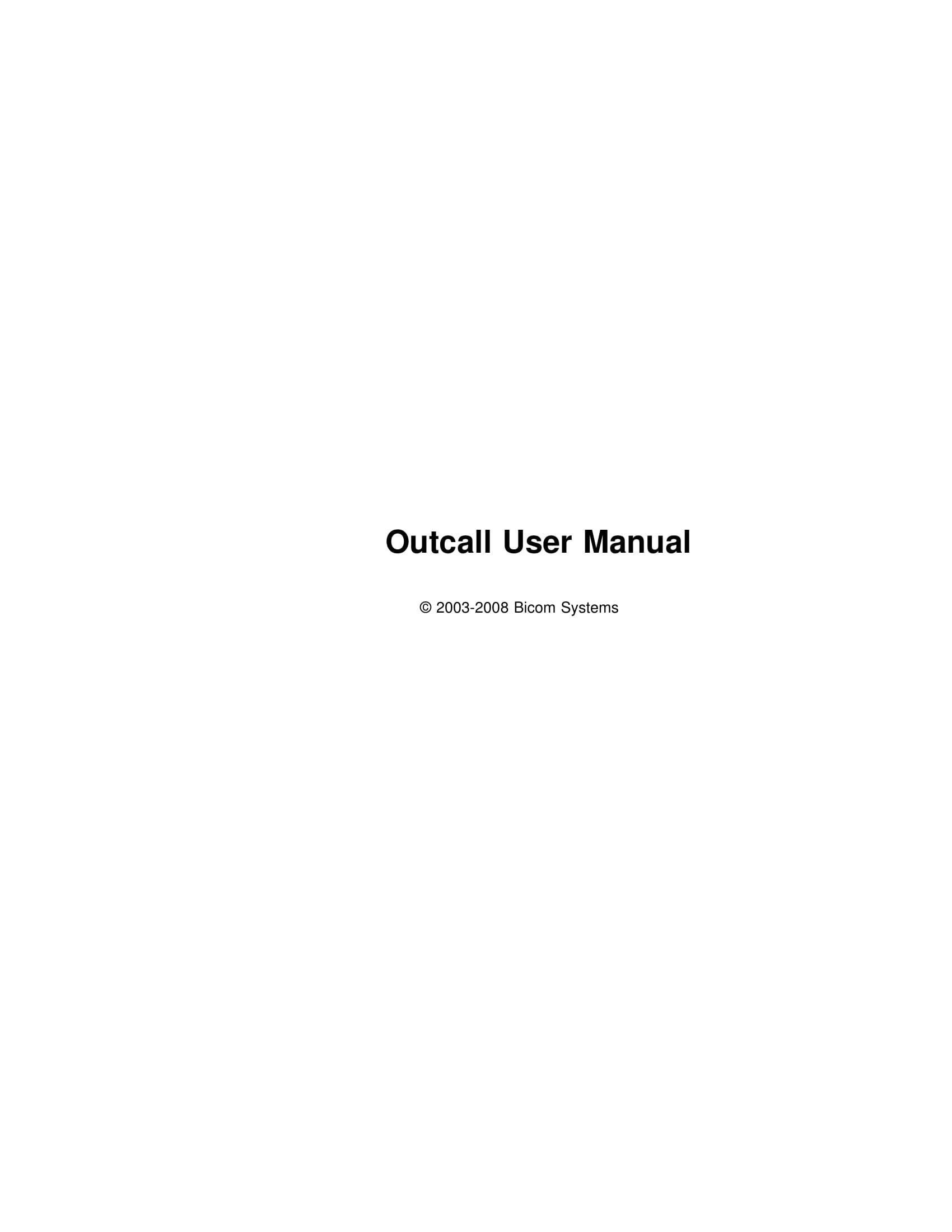outcall user manual with call log specification example 01