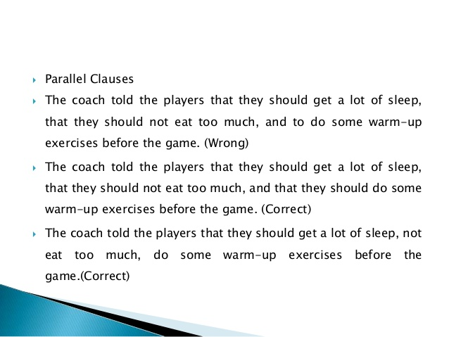 parallel clauses