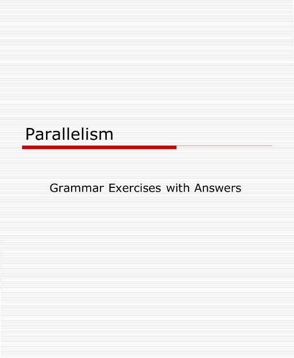 parallel structure grammar exercises example1