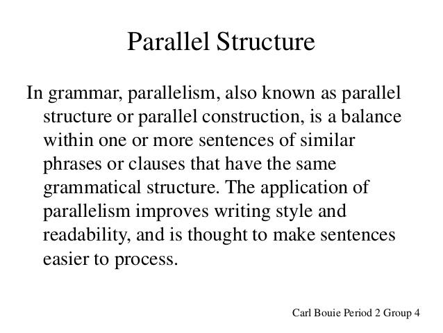parallel structure in grammar