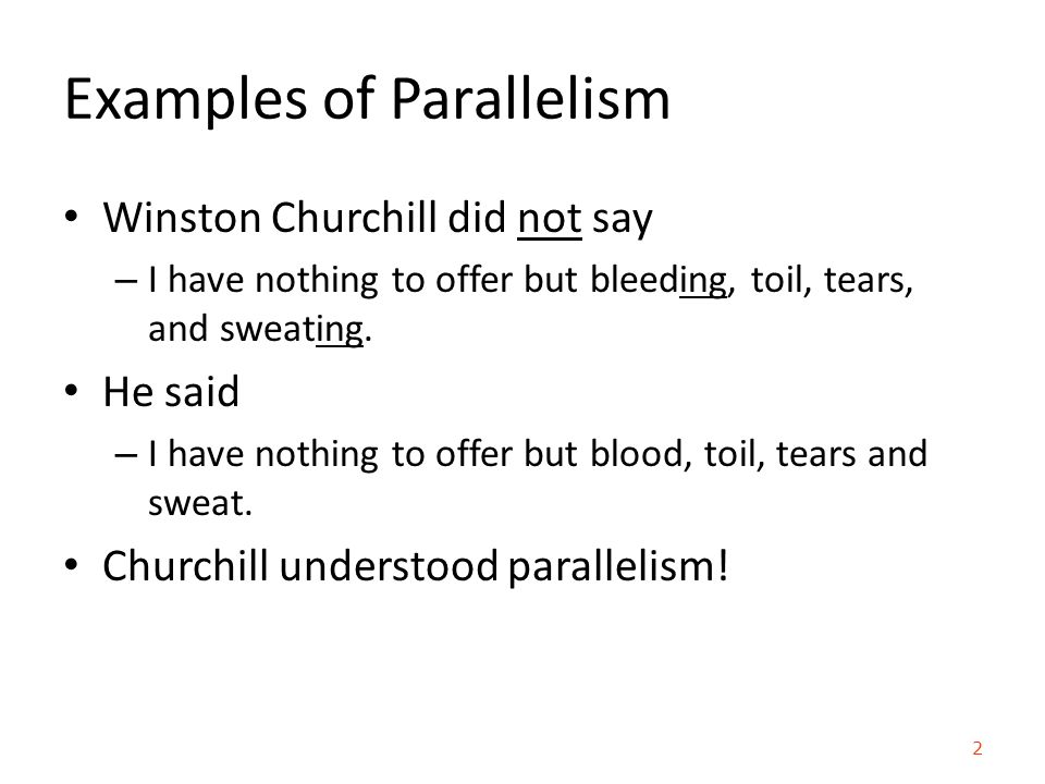 parallelism and winston churchill