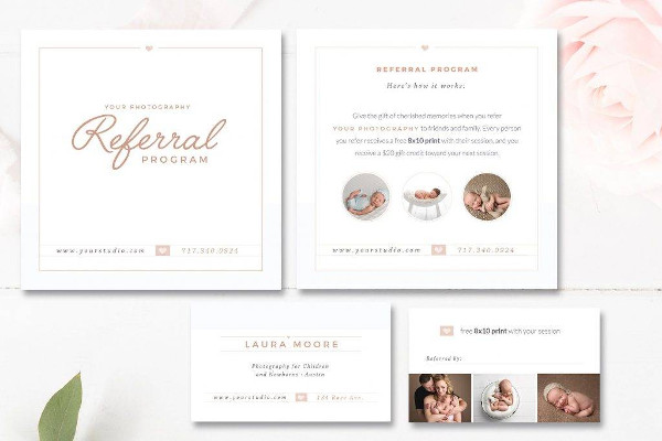 photo referral coupon template example