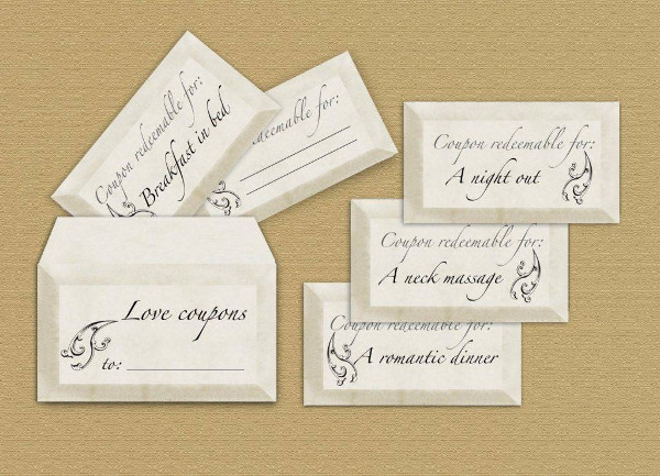 printable blank love coupon example