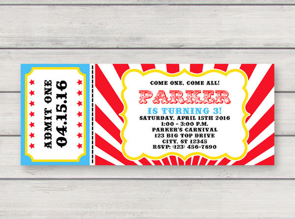 printable carnival ticket invitation example1
