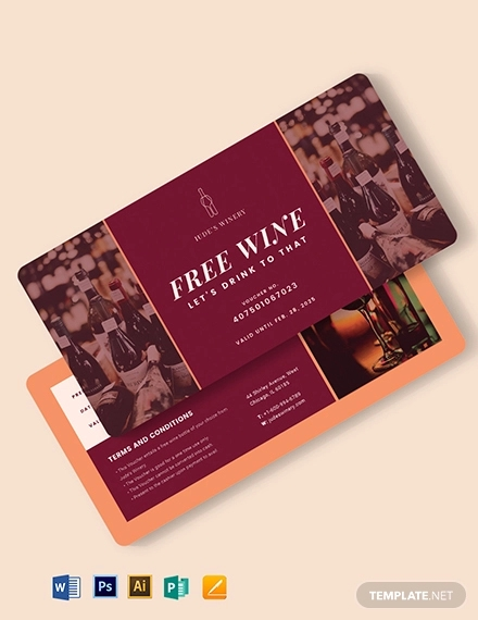 private wine voucher template