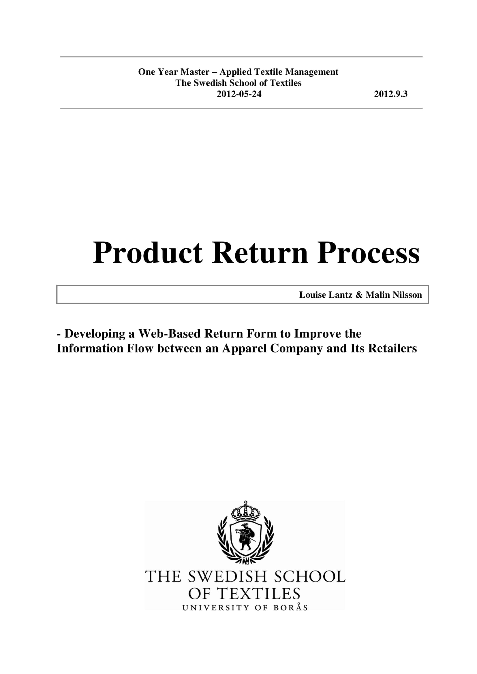 product return process and customer return report example 01