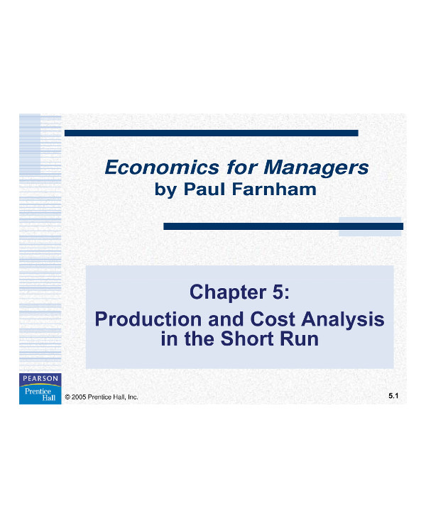 production and cost analysis example1
