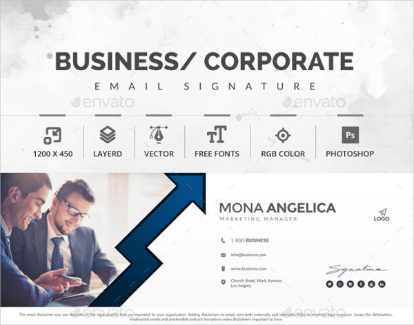 professional marketing manager email signature design example