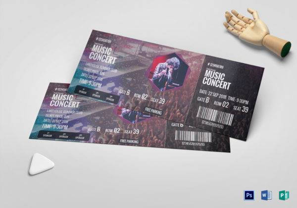 professional music concert ticket example1