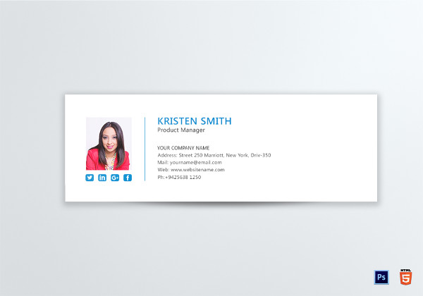professional product manager email signature template1