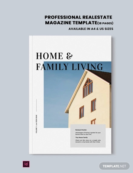 professional real estate magazine template