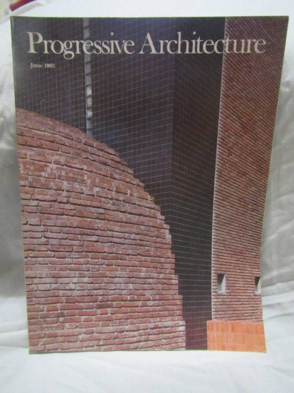 progressive architecture june 1983 magazine