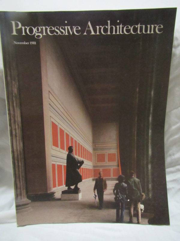 progressive architecture november 1981 magazine