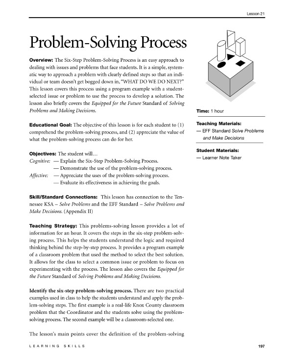 proposal for business and academic problem solving process guide example
